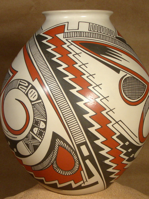 "JUAN QUEZADA 11"" High olla Celebrating 50 Yrs pottery"