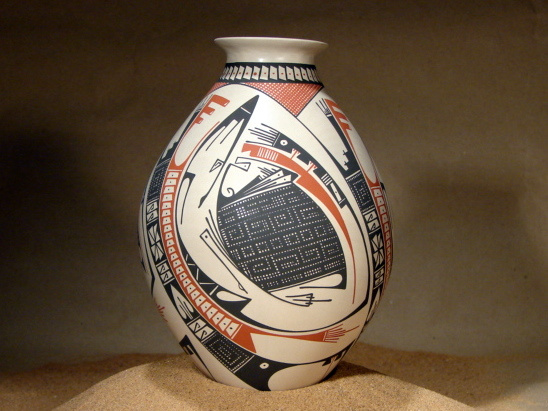 VICTOR REYES WHITE CLAY MATA ORTIZ POTTERY